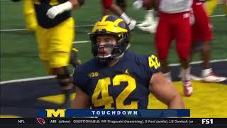 Michigan's Ben Mason With 3 Touchdowns vs. Nebraska - 9/22/2018 Michigan Football