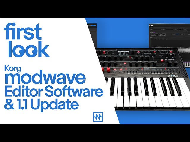 First Look - Korg modwave Editor Software and 1.1 Update