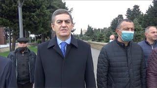 Əli Kərimli Şəhidlər xiyabanından açıqlama verdi!