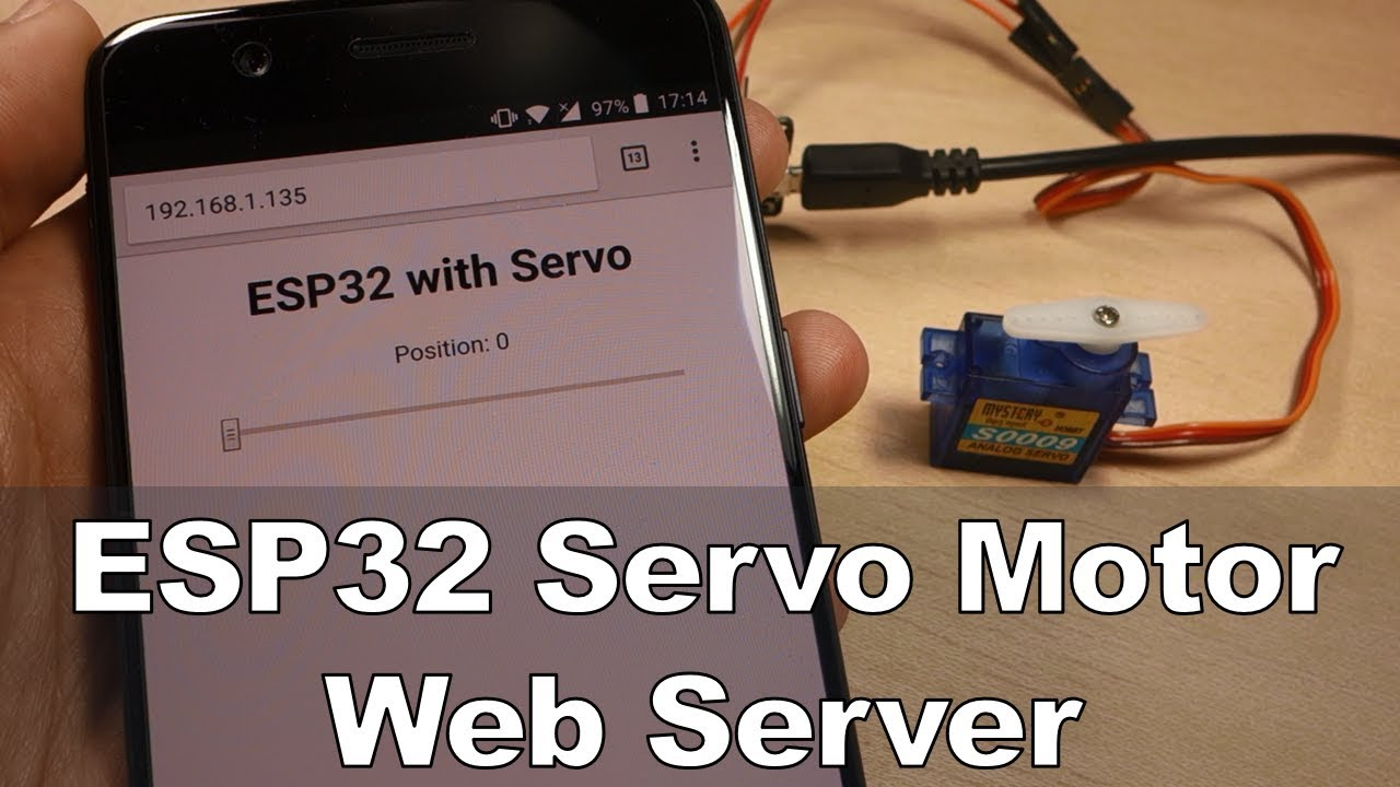 Esp32 Servo Motor Web Server With Arduino Ide