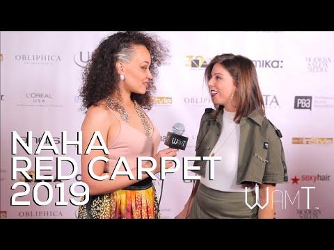 NAHA Awards 2019 Red Carpet - Dana Hodges Caschetta W/ Jalia Pettis - WAMT Magazine