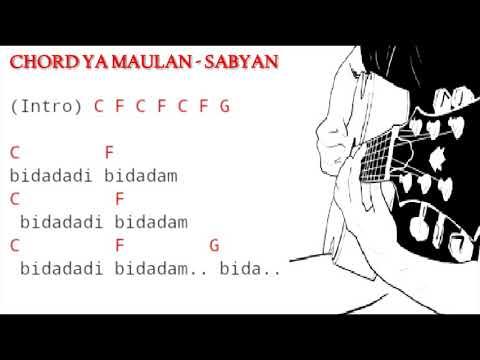 Kunci Gitar / Chord SABYAN - YA MAULANA Dan Lirik Lagu