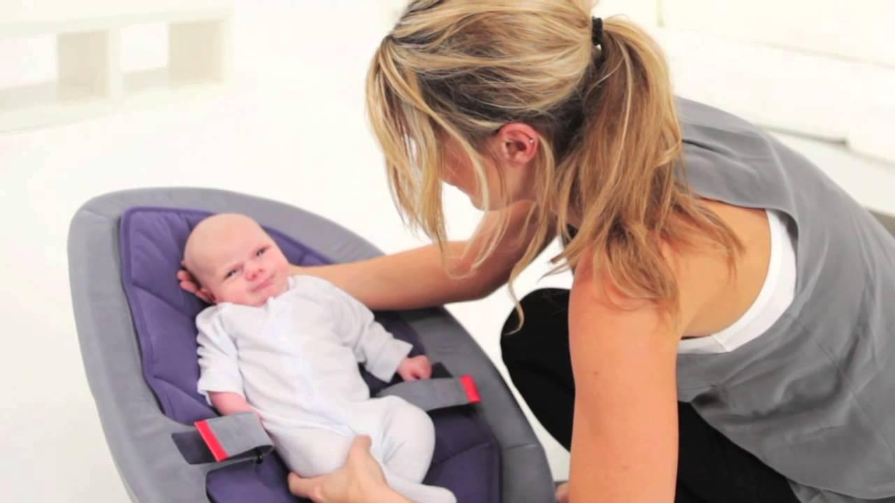 Nuna Leaf Stoel : Nuna leaf baby chair youtube