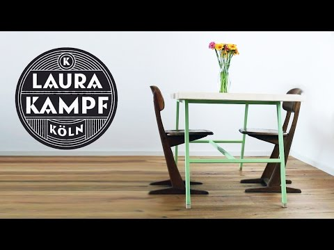 Laura´s Maple Table - Steel base (part 2)