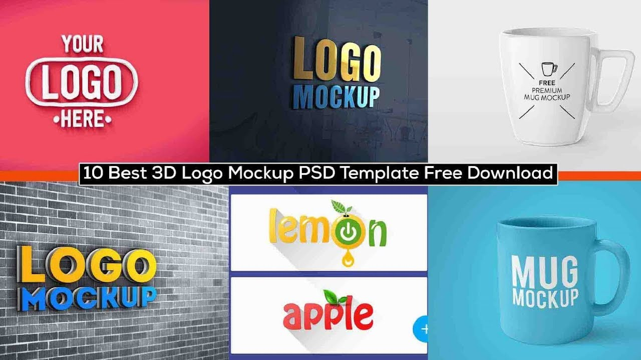 Download 10 Best 3D Logo Mockup PSD Template Free Download - YouTube