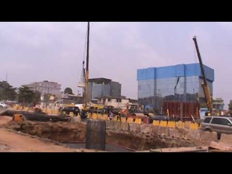 Ongoing construction at Muritala Mohammed Airport Road