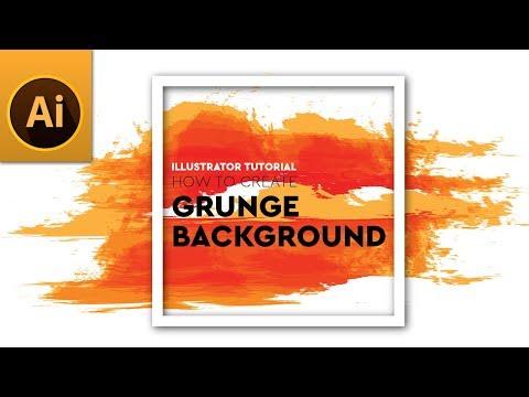 Create Vector Paint Stroke Grunge Background   Adobe Illustrator Tutorial thumbnail