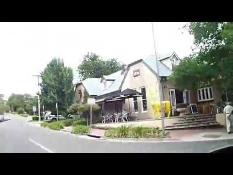 Driving Through Hahndorf, Main St. Adelaide Hills, South Australia