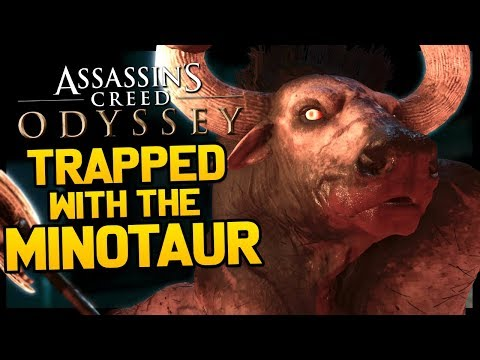 This is Assassin's Creed Odyssey and I'm trapped with the Minotaur thumbnail