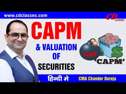 CAPM Model And Valuation Of Securities On The Basis Of Beta For CA/CMA/CS/MBA/M.Com