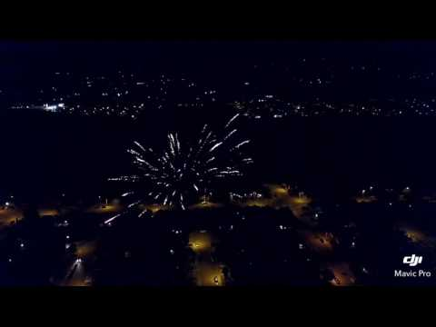 Fireworks from drone Palmdale ca 2017