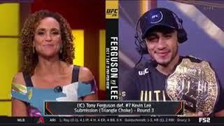 tony ferguson ufc 216 fox post fight interview