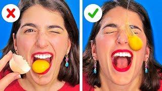 THỬ THÁCH ĂN HAY MẶC CỰC ĐÃ! Thử Thách Bột Quế     Trò đùa vui nhộn với 123 GO! CHALLENGE