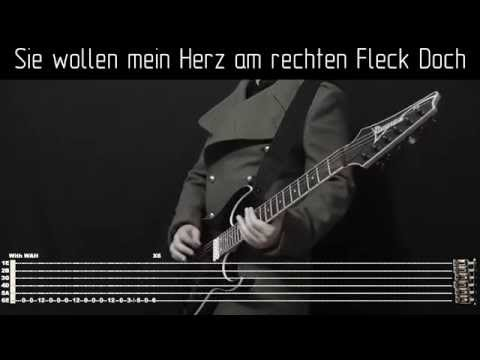 Rammstein Links 234 instrumental cover with tabs, backing track and lyrics