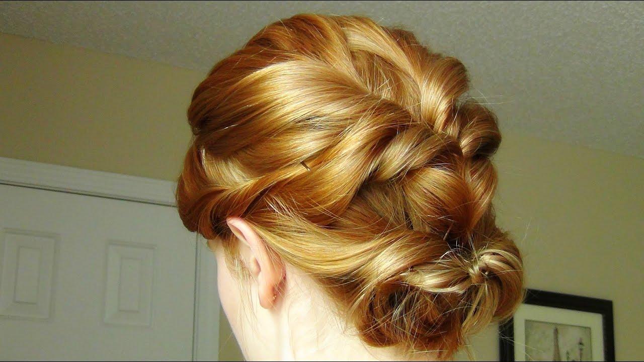 Twisted Flip Up-Do for Short Hair & Medium Length Hair! - YouTube