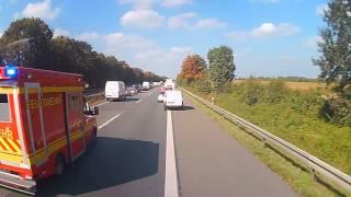 Dashcamdiaries #13 by Fuchs [ungeschnitten] Unfall A1 FR. Münster