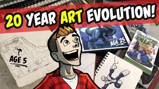 20 YEAR SKETCHBOOK TOUR | Childhood - Art School - Animation Career