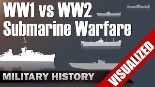 Submarine Warfare WW1 vs WW2 - Differences & Commonalities