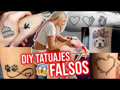 COMO HACER TATUAJES FALSOS que parezcan REALES!!😱 DIY! | TROLLEA A TUS AMIGOS!😜🔥 | Katie Angel