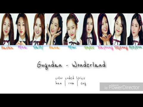 Gugudan - Wonderland [ Color coded lyrics - han/rom/eng]