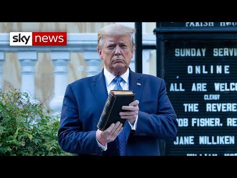 Trump Slammed For 'Bible Photo Op' In Front Of Damaged Washington Church