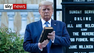 George Floyd protests: Trump slammed for 'Bible photo op' in Washington