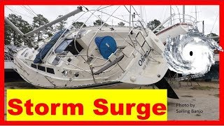 Sailboats SUNK by Hurricane Florence Storm Surge in New Bern Marinas
