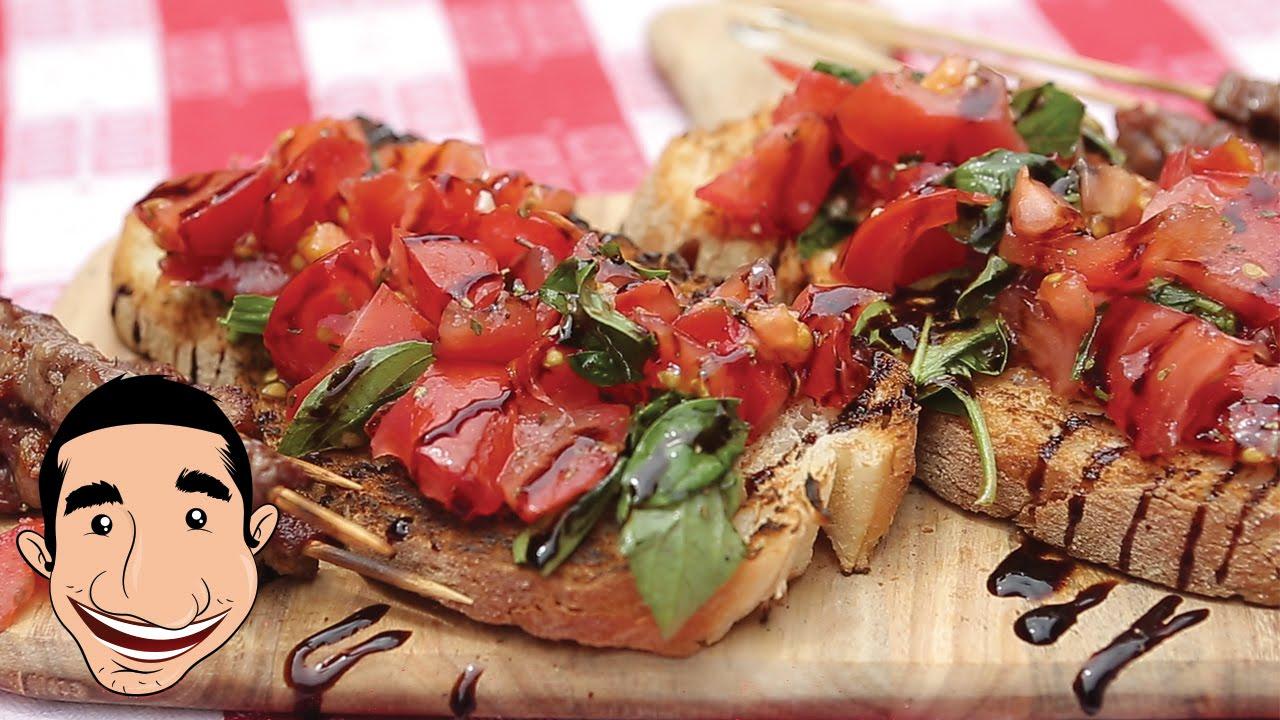 ITALIAN BRUSCHETTA RECIPE  Bruschetta with Tomato and Basil feat BBQ Aroma