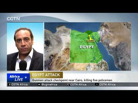At least five police officers shot dead at checkpoint near Cairo