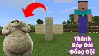 HƯỚNG DẪN TẠO RA XÁC ƯỚP AI CẬP(MUMMY), THÁNH BÓP DÁI ĐỒNG ĐỘI TRONG MCPE | Minecraft PE 1.2