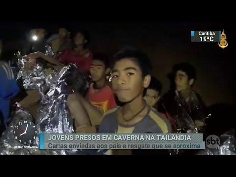 Chuva forte dificulta ainda mais o resgate de meninos em caverna da Tailândia | SBT Brasil (07/07/18