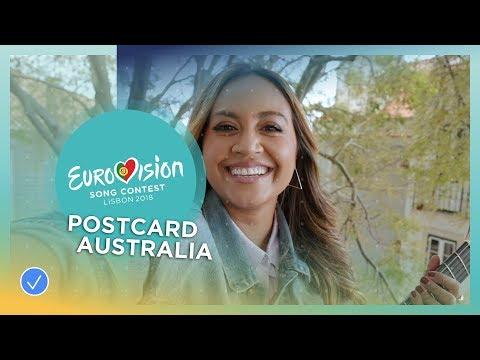 Postcard of Jessica Mauboy from Australia - Eurovision 2018