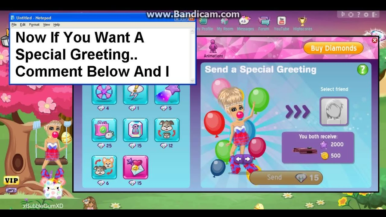 Moviestarplanet special greeting youtube kristyandbryce Gallery