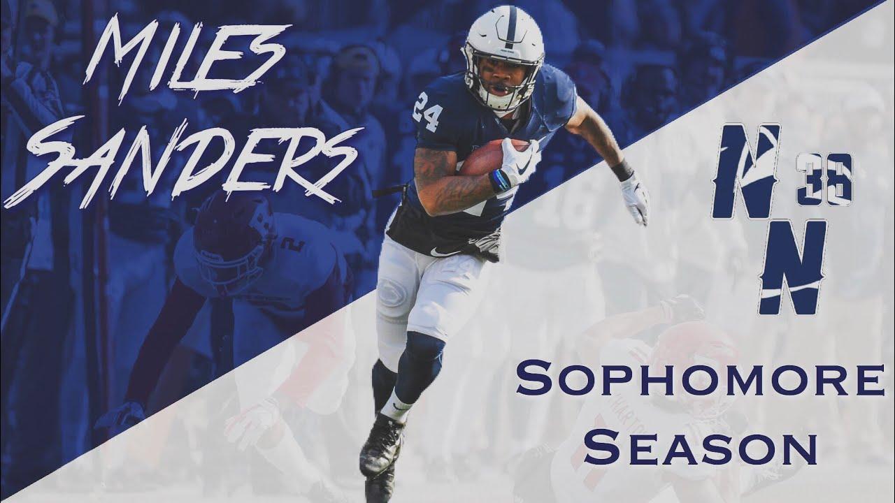 official photos d93b3 28f86 Miles Sanders Sophomore (2017-18) Regular Season Highlights ᴴᴰ || Penn  State RB #24