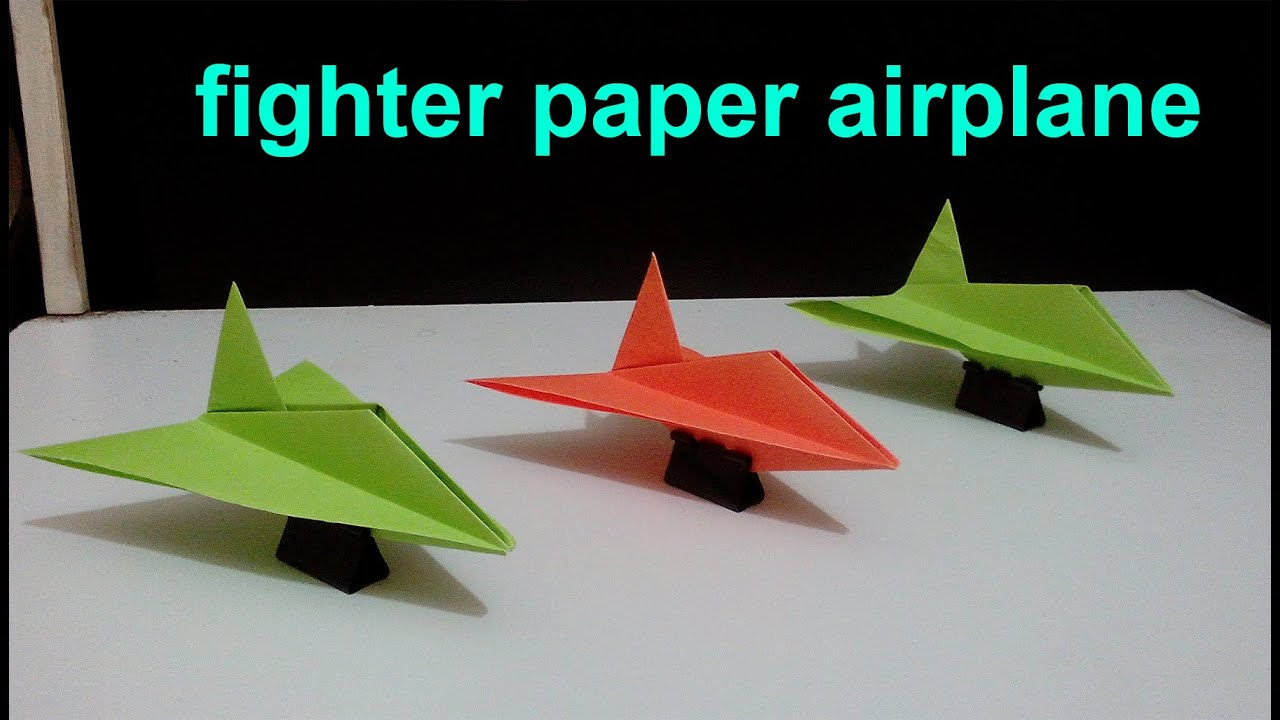 How to make a fighter out of paper