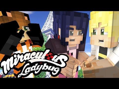 Minecraft Ladybug and Cat Noir Ep 27 ♥ Happy Monthiversary ♥ Miraculous Ladybug Season 2 Episode 2