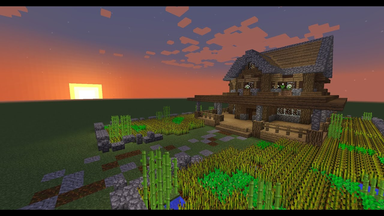 How to build a minecraft farmhouse minecraft tutorial How to build a farmhouse