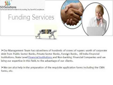 Finance Funding Services Bangalore- S3solutions