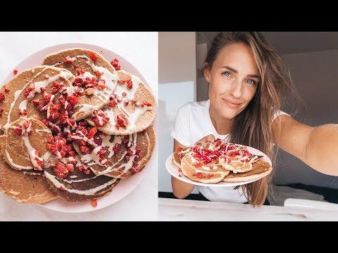 3 Ingredient Healthy Vegan Pancakes (Tutorial)