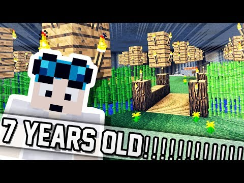 PLAYING THE OLDEST MINECRAFT MAP?!