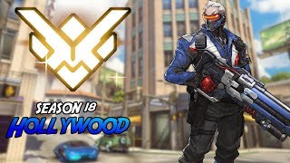 "【OW】 ""Competitive Mode"" ★Grandmaster★ Soldier 76 On Hollywood 