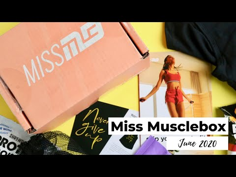 Miss Musclebox Unboxing June 2020: Fitness Subscription Box
