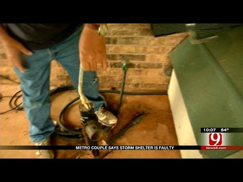 Metro Couple Says Storm Shelter Was Installed Incorrectly