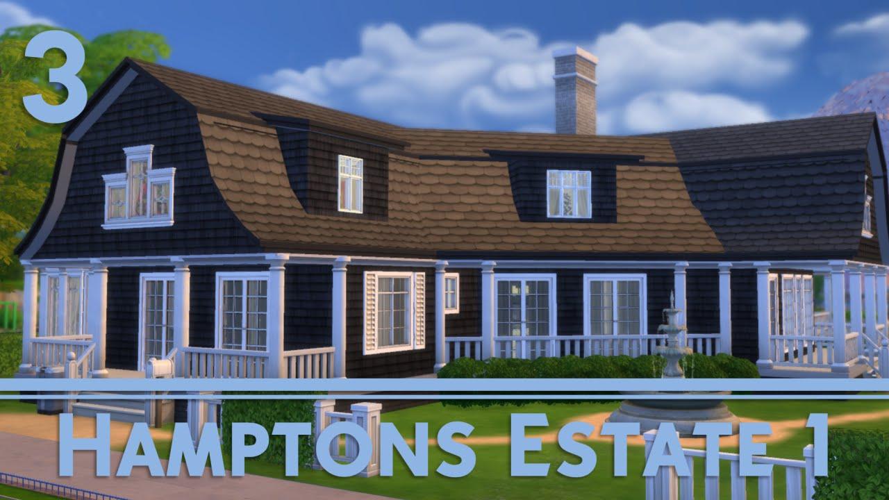 The Sims 4 House Building Hamptons Villa 1 2 3 Youtube