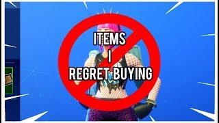 ITEMS I Regret Buying in Fortnite REGRETS 300$ ACCOUNT