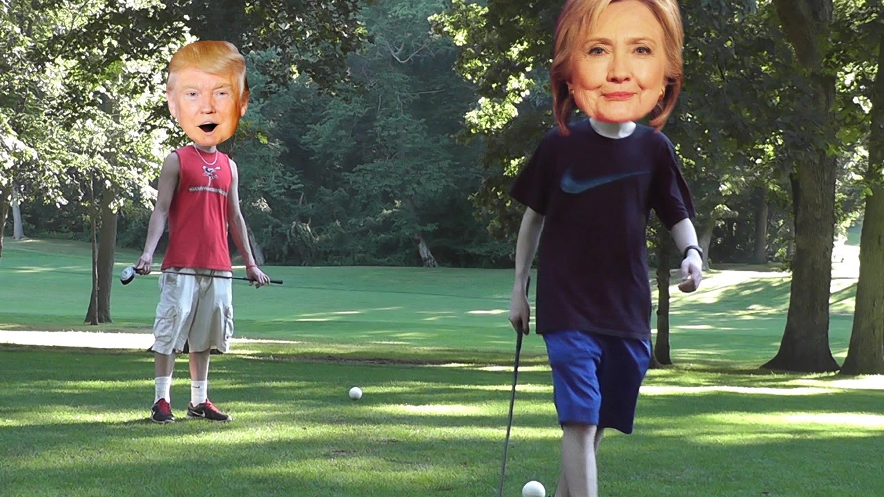 Donald Trump vs Hillary Clinton in GOLF - YouTube