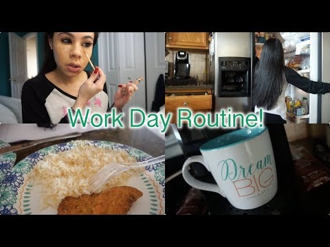 VLOG STYLE MORNING ROUTINE! WORK DAY EDITION.