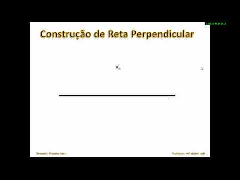 Construção de reta perpendicular passando por um ponto que não pertence a reta dada