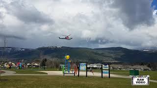 RAW: Air ambulance arrives at Salmon Arm church