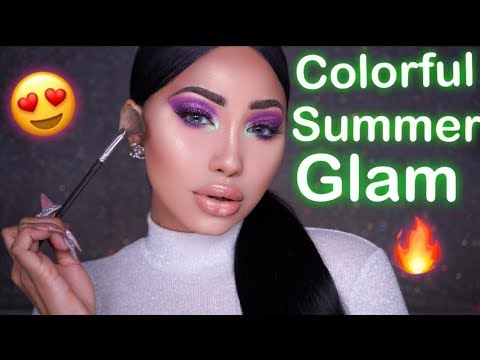 0df18f3782258 COLORFUL SUMMER GLAM MAKEUP TUTORIAL
